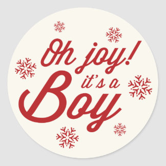 Oh Joy! It's a Boy Baby Snowflakes Holiday Sticker