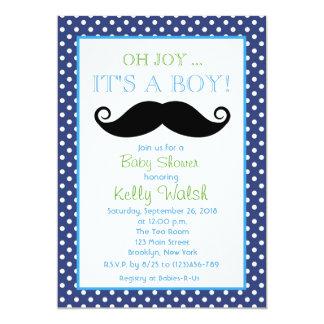 Oh Joy It's A Boy Mustache Baby Shower Invitation
