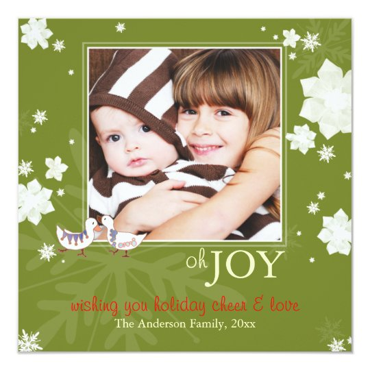 Oh JOY Joyful Green Holiday Photo Card