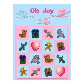 Oh Joy Storks Baby Shapes Thank You Postcard
