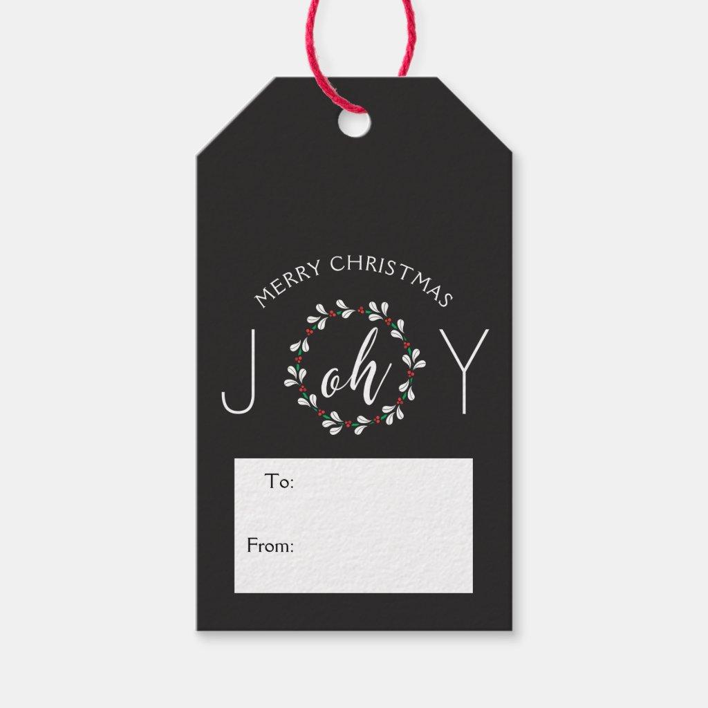 Oh Joy Wreath Christmas Gift Tags