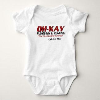 OH-KAY Plumbing & Heating (Distressed) Baby Bodysuit