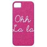 Oh La del La - rosa de la frambuesa iPhone 5 Case-Mate Cárcasa
