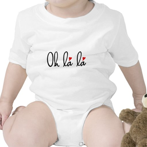 Oh la la, French word art with red hearts T Shirts