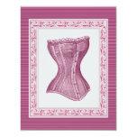 Oh La La Lolita's Corset Bachelorette 4.25x5.5 Paper Invitation Card