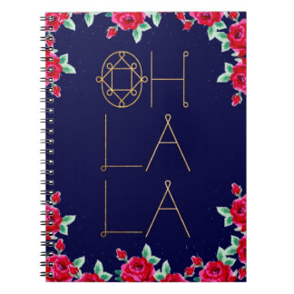 Oh la la navy floral notebook