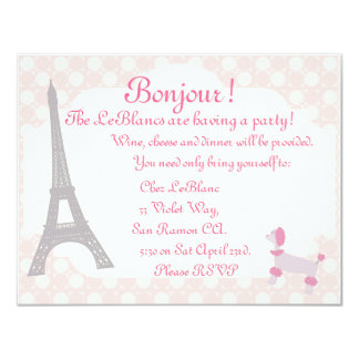 Oh la La Parisian themed invite