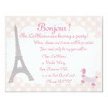 """Oh la La Parisian themed invite 4.25"""" X 5.5"""" Invitation Card"""
