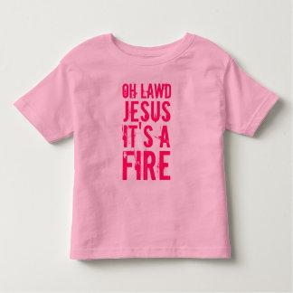 ¡Oh Lawd Jesús es un fuego! Camiseta del campanero