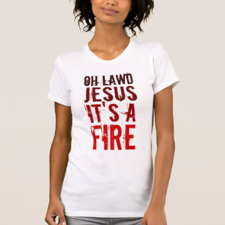 ¡Oh Lawd Jesús es un fuego! Camisetas sin mangas