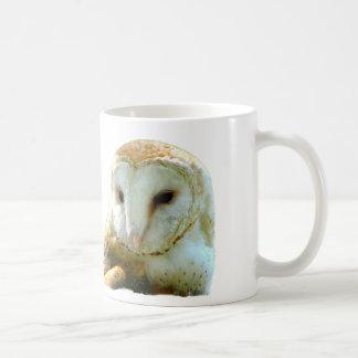 Oh lechuza común hermosa taza de café