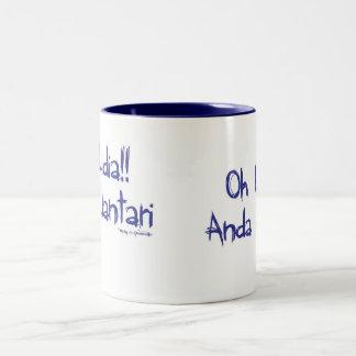 oh lidia Azul Two-Tone Coffee Mug