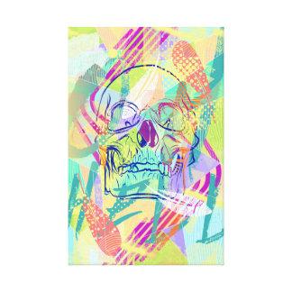 Oh lona envuelta cráneo de Sherbert del infierno Impresiones En Lona