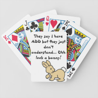 Oh look a bunny bicycle playing cards