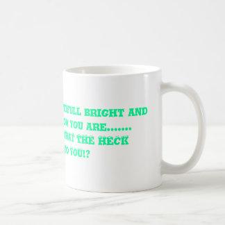 oh look at the beautifull bright and wonderfull... classic white coffee mug