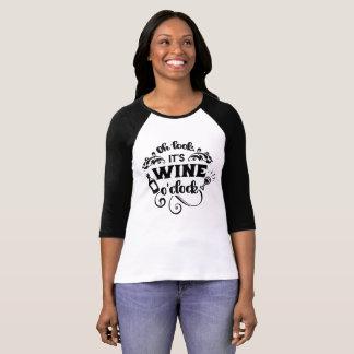 Oh Look, It's Wine O'Clock Raglan T-Shirt