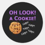 Oh Look Round Sticker