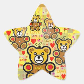Oh,...Love Teddy Bear! Star Sticker