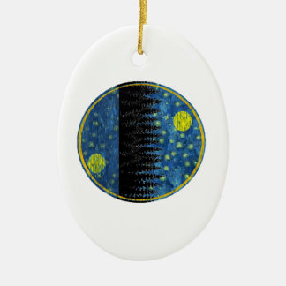 OH LOVELY EVENING CERAMIC ORNAMENT