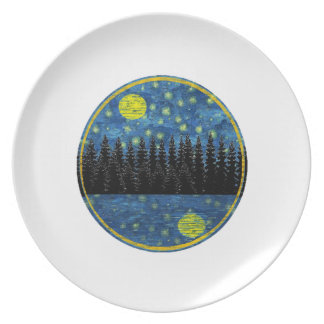 OH LOVELY EVENING MELAMINE PLATE