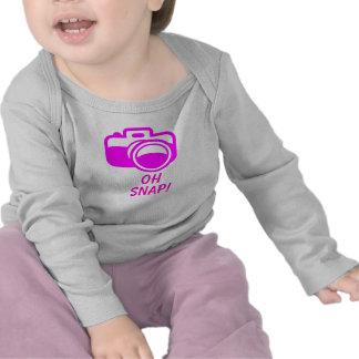 Oh manga larga infantil rápida camiseta