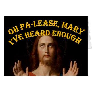 Oh Maria he oído por favor bastantes Tarjeta De Felicitación