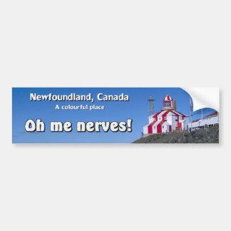 Oh Me Nerves Bumper Sticker