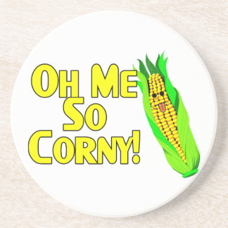 Oh Me So Corny Drink Coaster