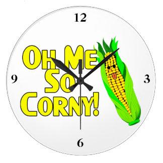 Oh Me So Corny Large Clock
