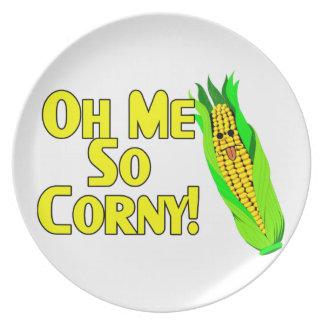 Oh Me So Corny Melamine Plate