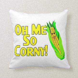 Oh Me So Corny Throw Pillow