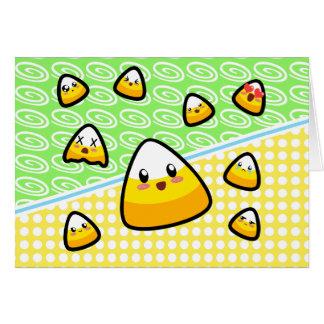 ¡Oh mi calidad! ¡Pastillas de caramelo de Kawaii!  Tarjeta De Felicitación