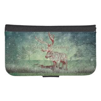 ¡Oh mi feliz Navidad de Deer~! caja de la cartera Funda Tipo Billetera Para Galaxy S4