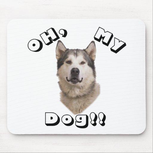 Oh mi Malamute de Alaska del perro Tapete De Ratones