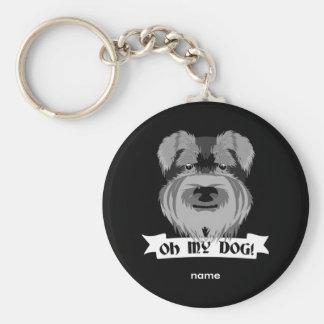 Oh mi perro Terrier Llavero Redondo Tipo Chapa