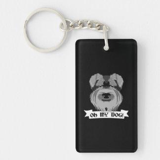 Oh mi perro Terrier Llavero Rectangular Acrílico A Doble Cara