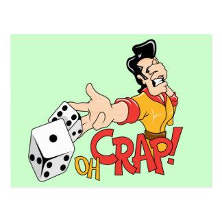 Oh mierda - tabla de las mierdas - humor del juego tarjeta postal