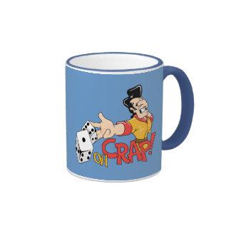 Oh mierda - tabla de las mierdas - humor del juego tazas de café
