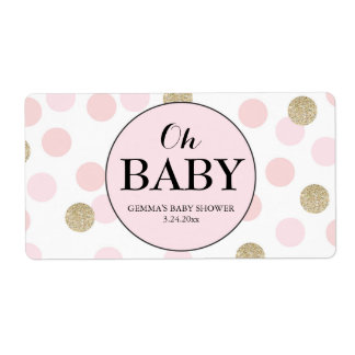 Oh mini chica de la etiqueta de Champán de la Etiquetas De Envío
