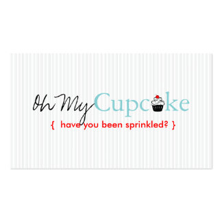 Oh My Cupcake Business Card Template