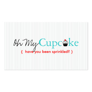 Oh My Cupcake Double-Sided Standard Business Cards (Pack Of 100)