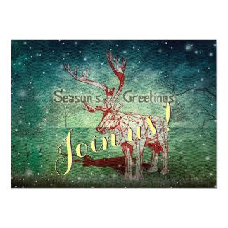 "Oh My Deer~ Merry Christmas!   Invitation Cards 4.5"" X 6.25"" Invitation Card"