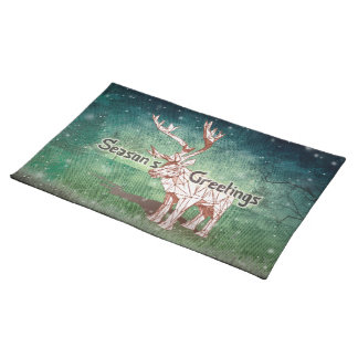 Oh My Deer~ Merry Christmas!   Placemats Cloth Place Mat