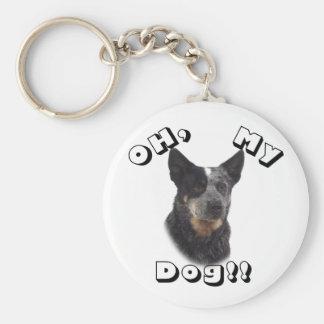 Oh, my Dog!! Australian Cattle Dog - Blue Keychain