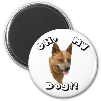 Oh my Dog  Australian Cattle Dog Red Magnet