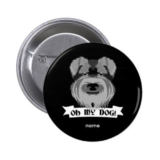 Oh My Dog Terrier Pinback Button