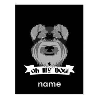 Oh My Dog Terrier Postcard