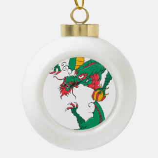 Oh My Dragon! Ceramic Ball Christmas Ornament