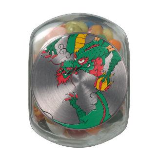 Oh My Dragon! Glass Candy Jars