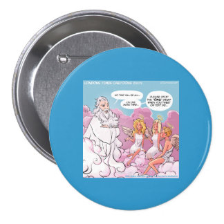 Oh My God (OMG) Angels Text Funny Pinback Button